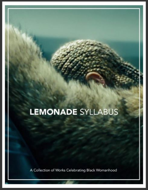 Cover for the Lemonade Syllabus by Candice Benbow