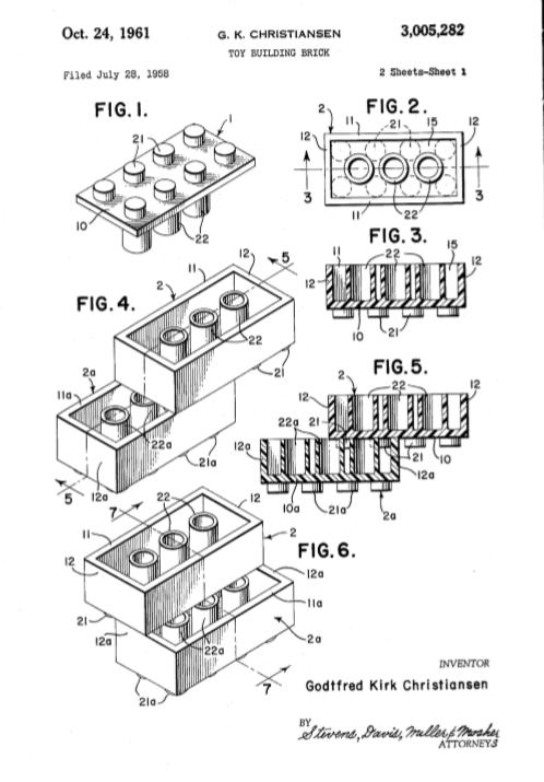 image of Lego patent