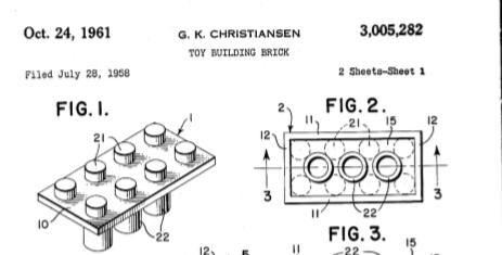 Lego patent, close up