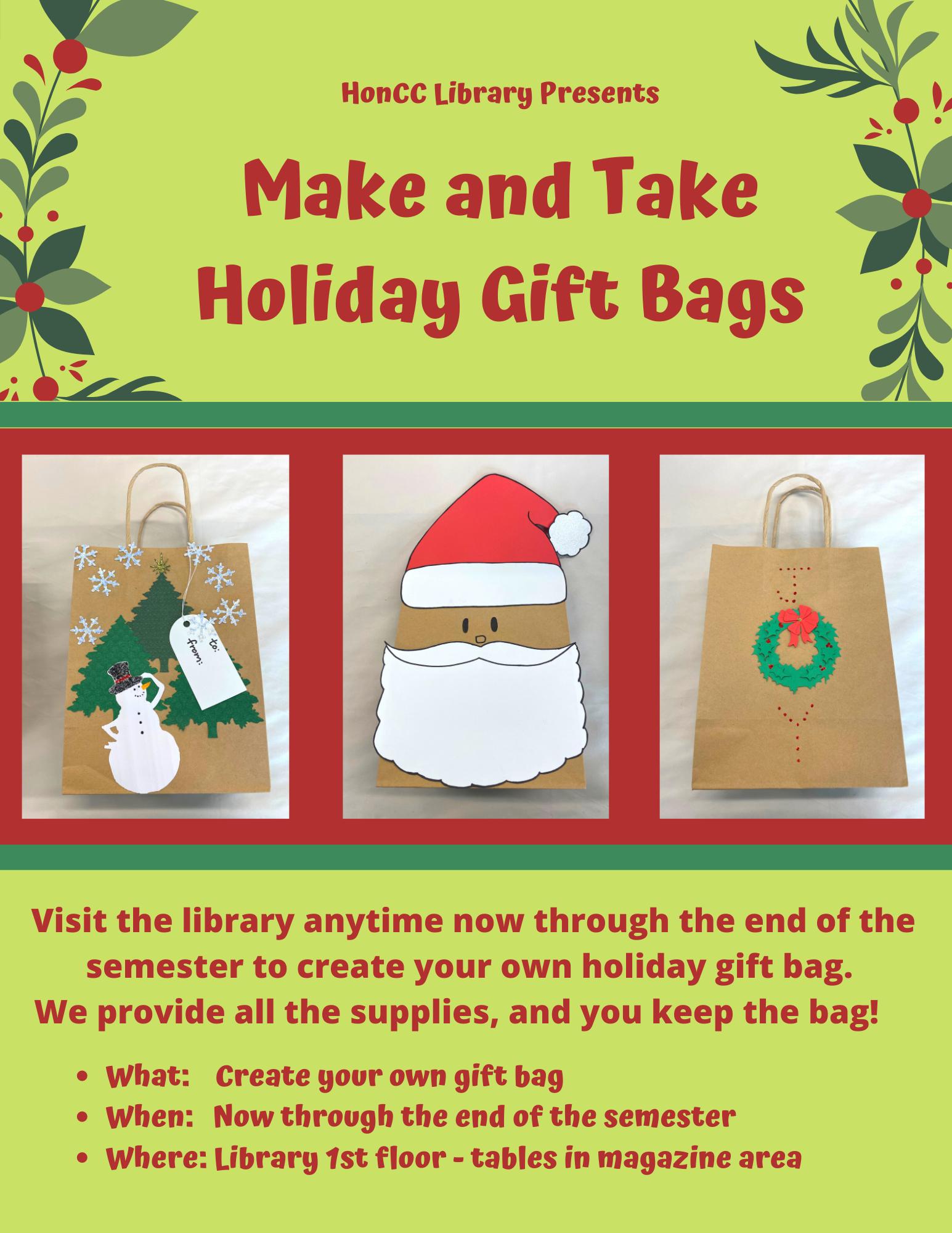 Christmas Gift Bag Making Flier