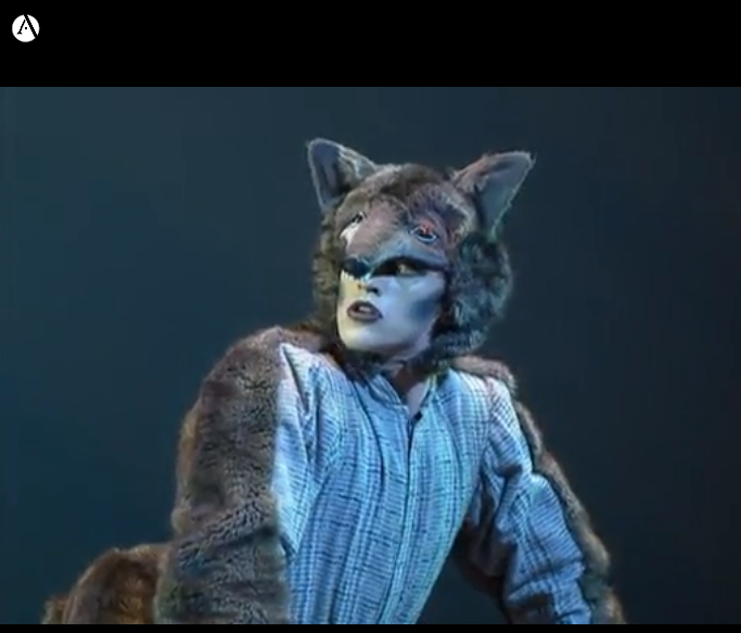 Image of Wolf from Royal Ballet School production of Peter and the Wolf.