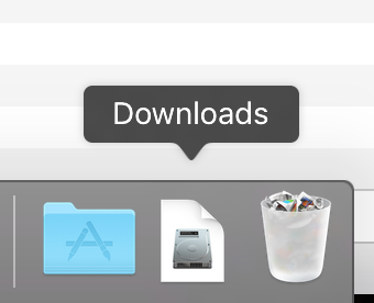 Downloads in the Dock
