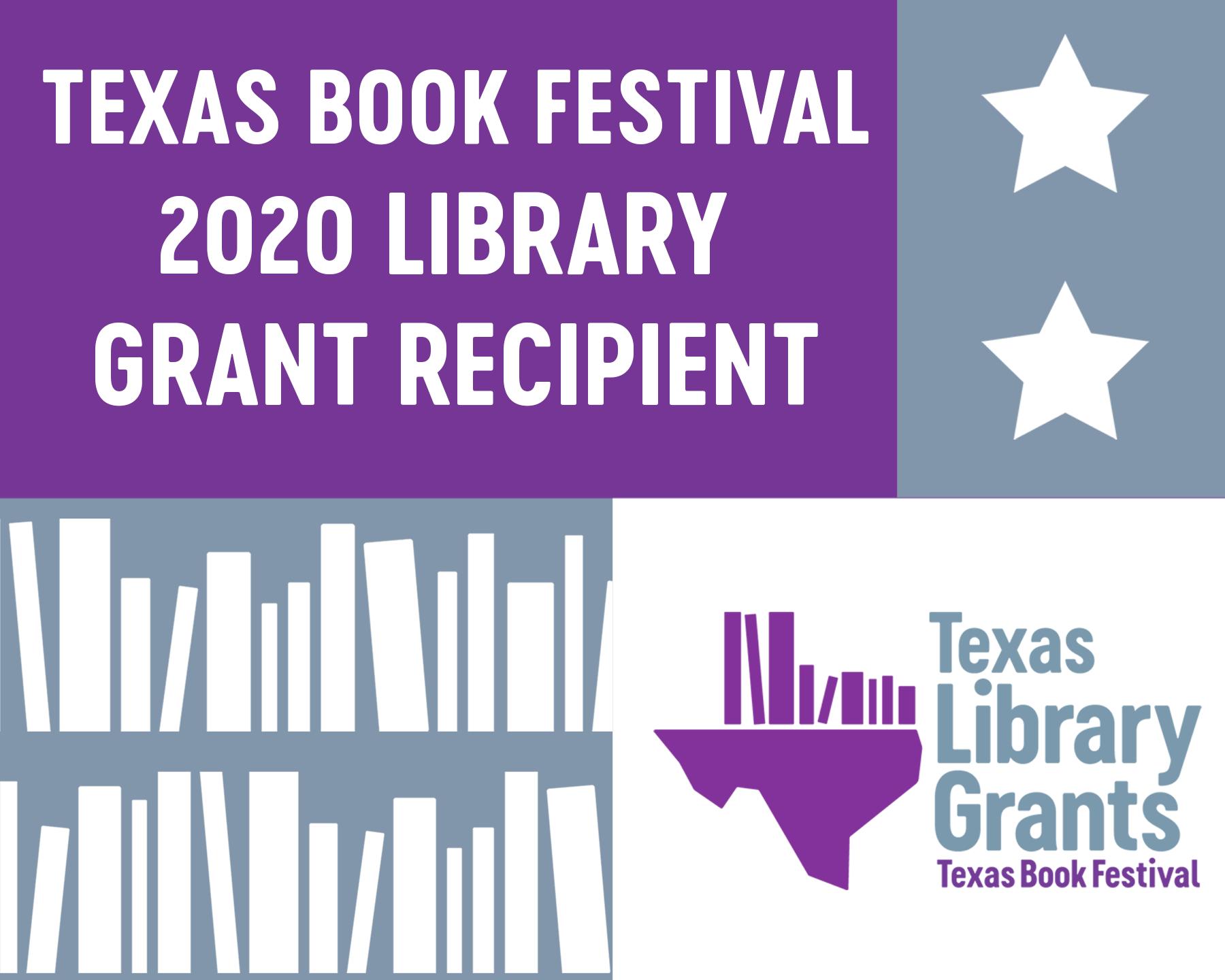 texas book festival 2020 library grant recipient logo