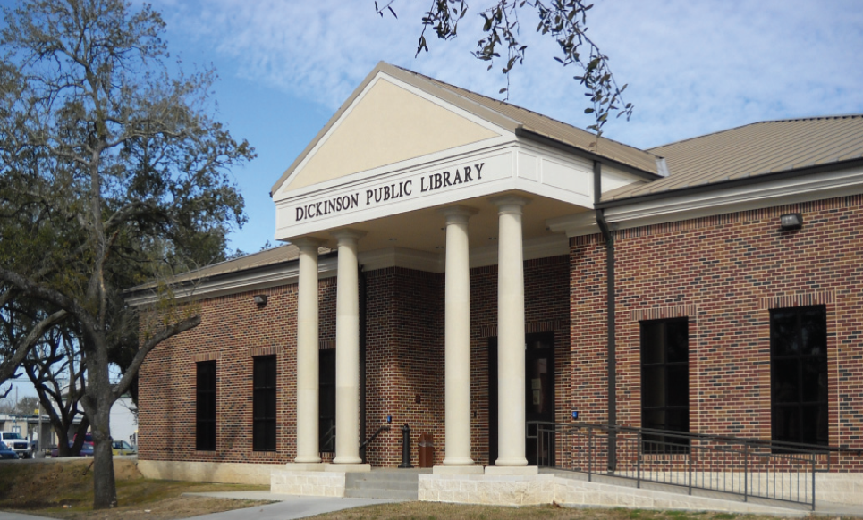 external view of dickinson public library