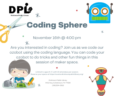 STEM Maker Space Mondays: Coding Sphere