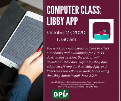Adult Computer Class: Libby App
