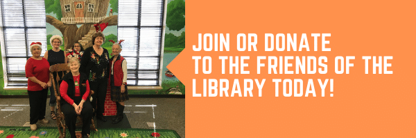 friends of the library banner when click goes to friends of library facebook page