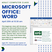 Adult Computer Class: Microsoft Office: Word