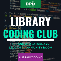 1st and 3rd saturday coding at 12:30pm