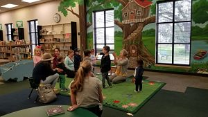 preschool story time in children area