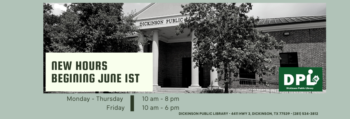 starting june1 library new hours