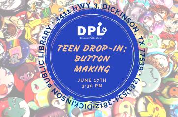 Teen Craft- Creating Buttons