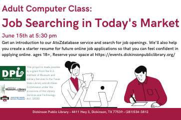 Computer Class: Job Searching in Today's Market