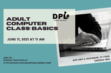 Adult Computer Class: Basic Computer