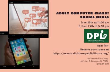 Adult Computer Class- Social Media