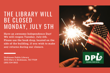 Library Closed: 4th of July