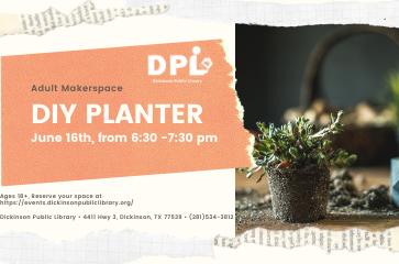 Adult Makerspace: DIY Planter