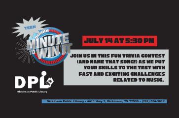 Teen- Minute to Win It