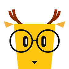 deer face with glasses