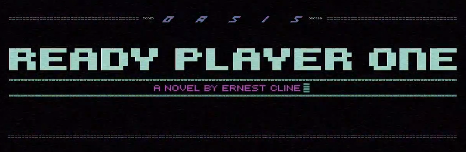 large title letters displayed as pixels