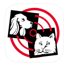 dog and cat with radar symbol
