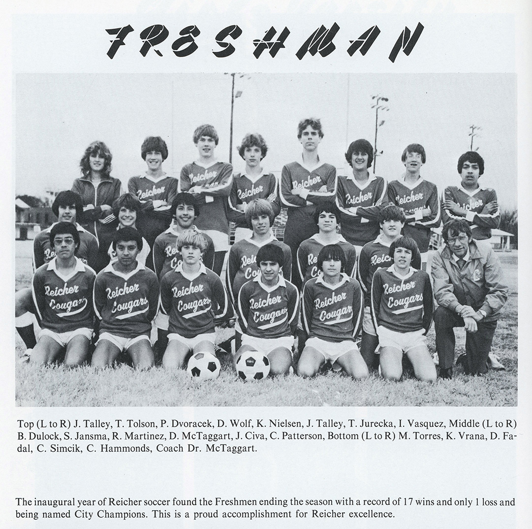 Reicher High Soccer 1982