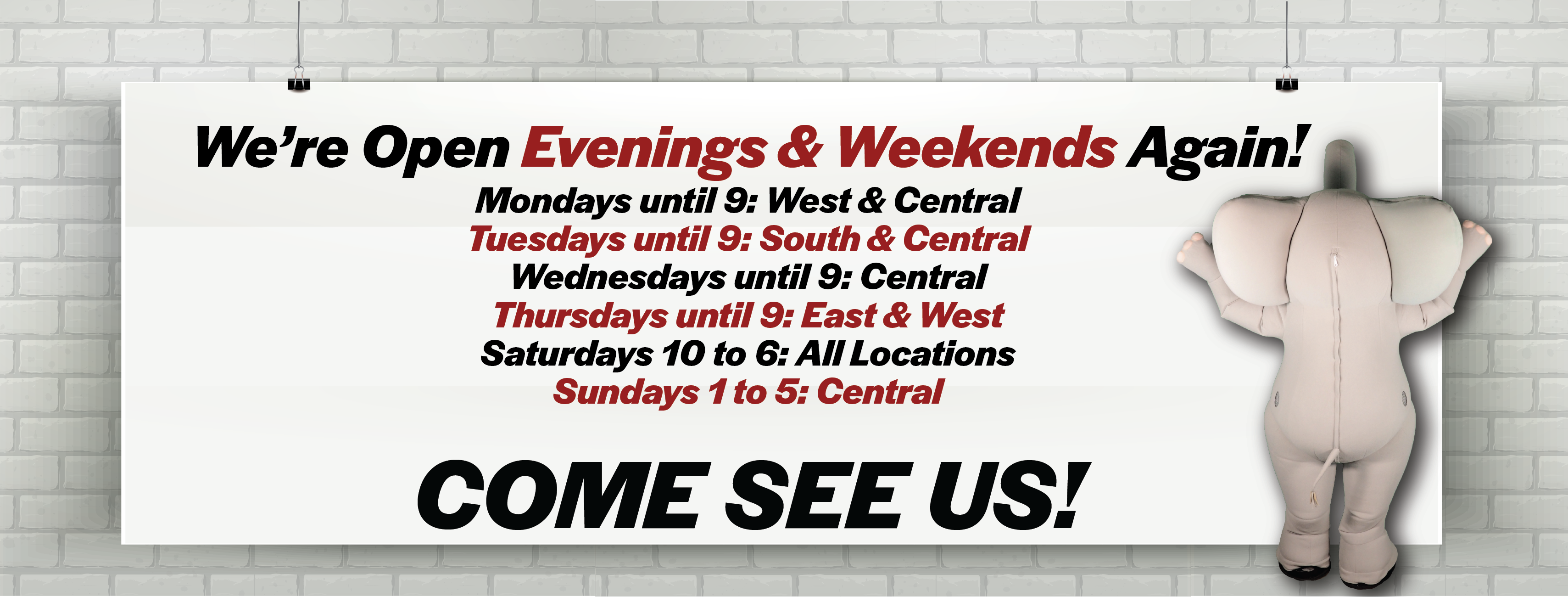 Evening & Weekend Hours Now Available