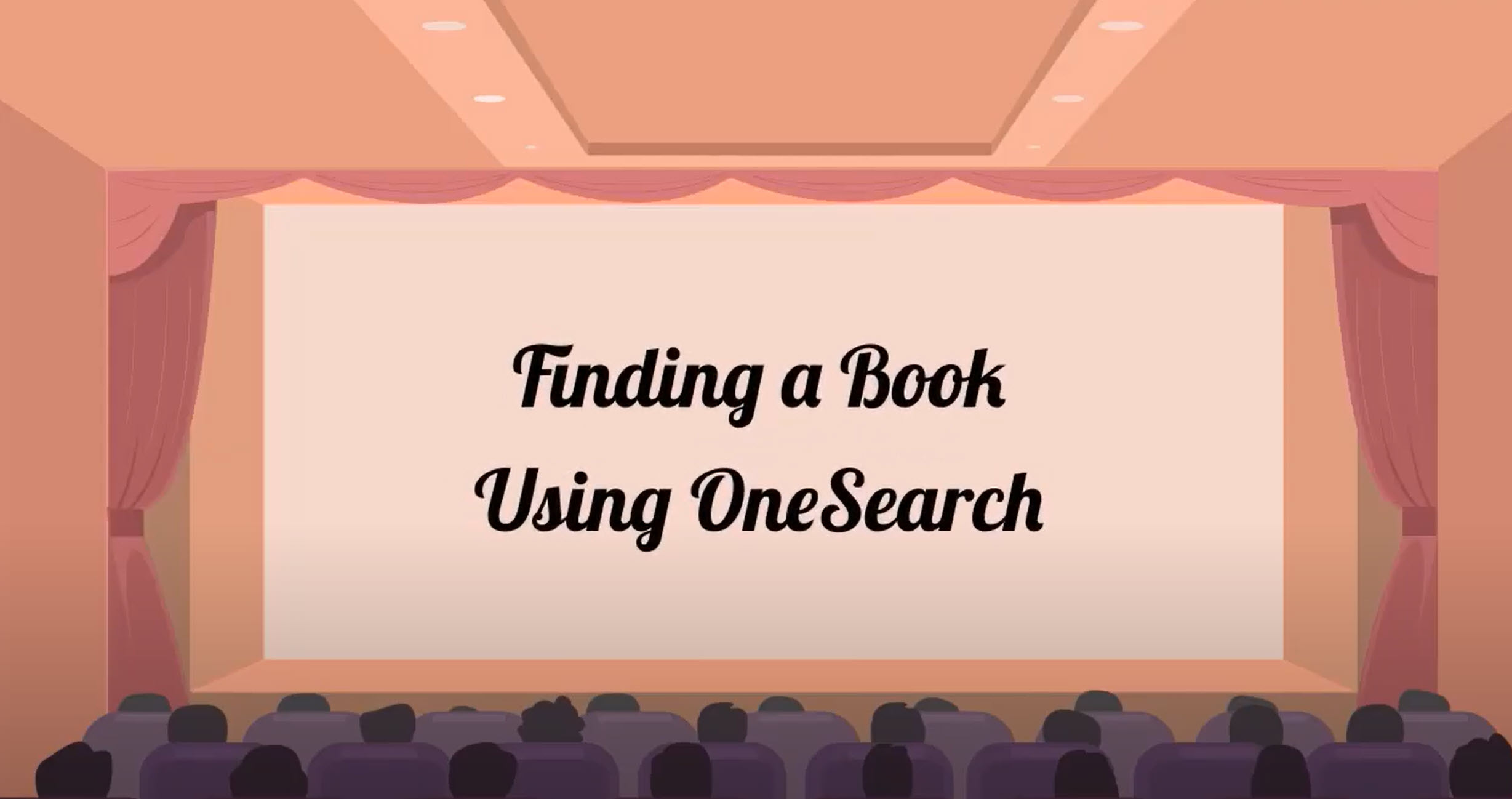Image of the Finding a Book Using One Search Video with link to video when clicked