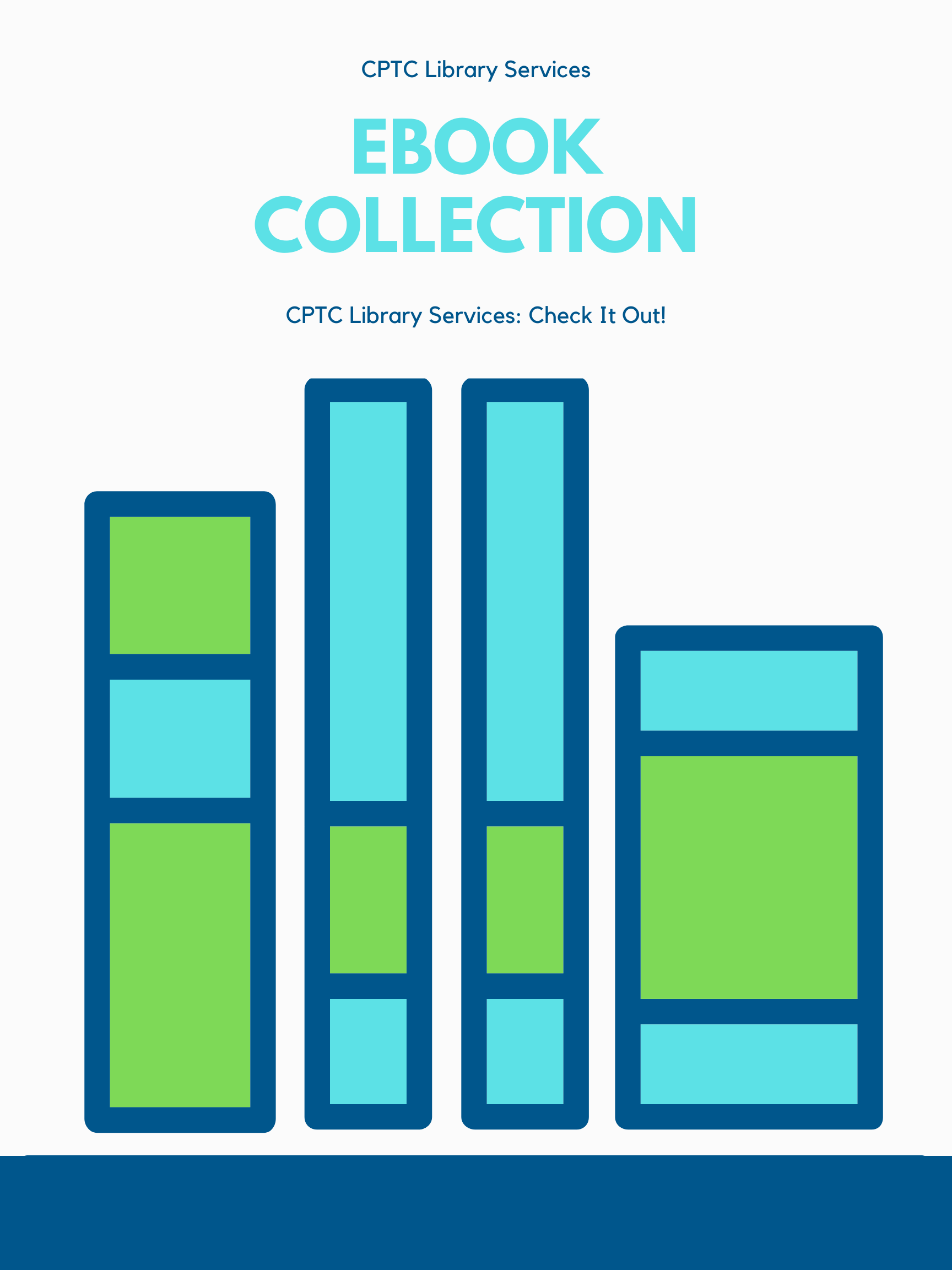 Poster for CPTC Library Services EBook Collection
