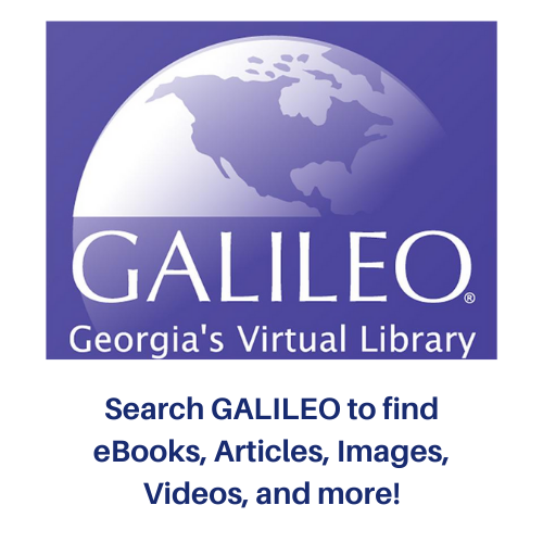 "GALILEO Virtual Library Logo saying ""Search GALILEO to find eBooks, Articles, Images, Videos, and more!"""