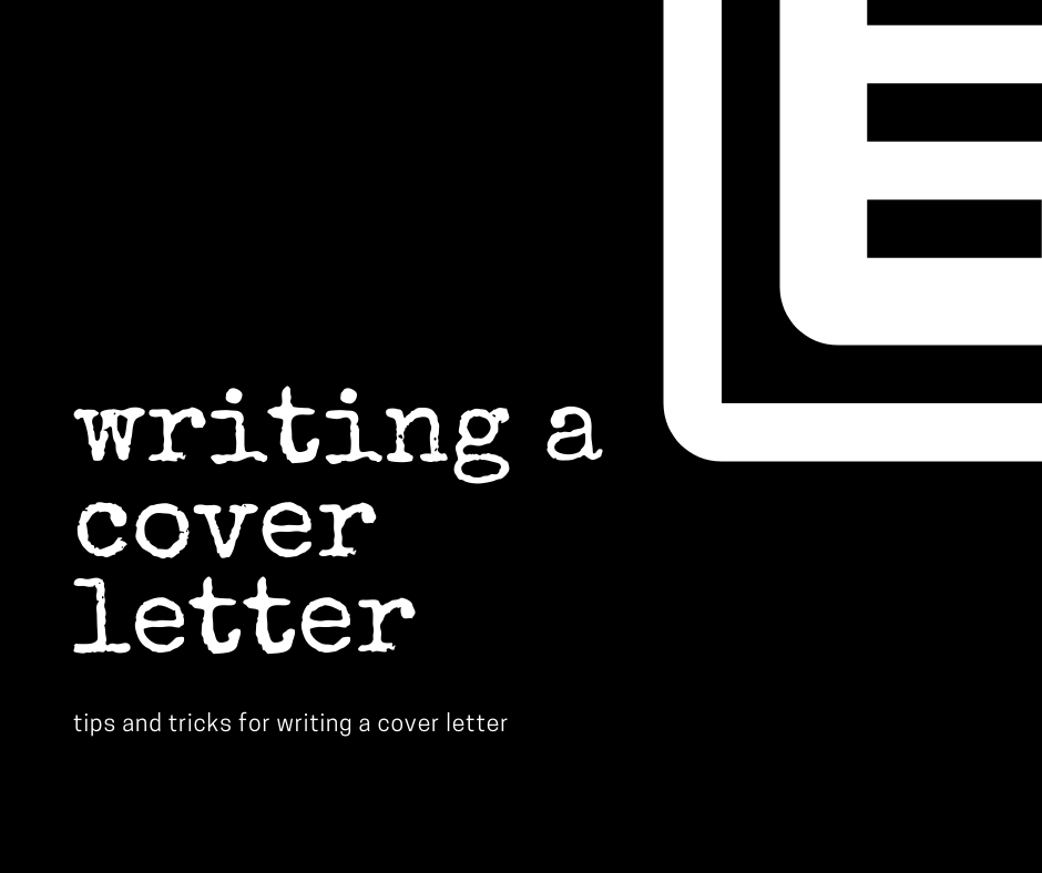 writing a cover letter poster