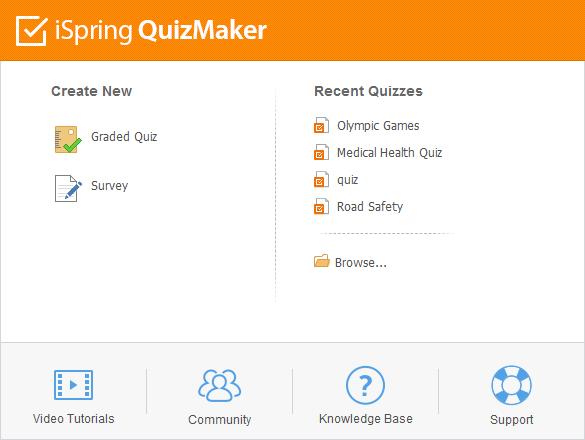 iSpring QuizMaker Quickstart