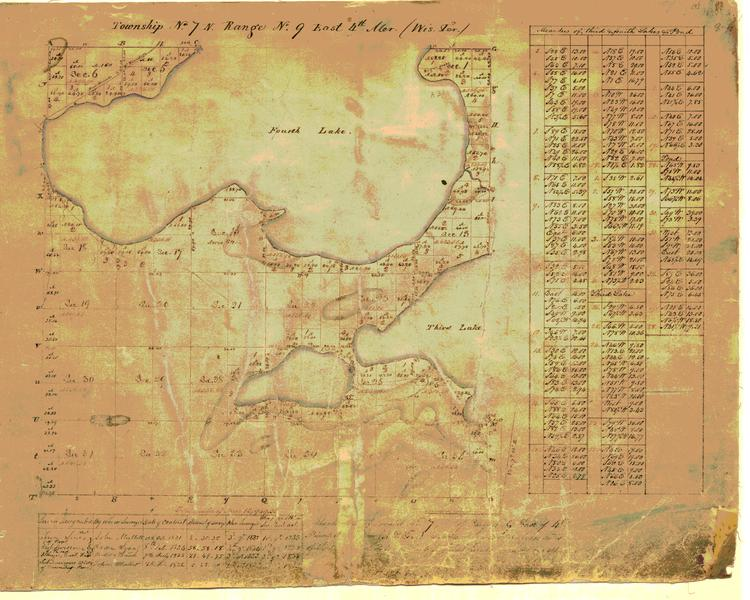 Sketch map of Dane County Township 7 North Range 9 East - Picnic Point, 1834