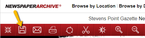 "Screengrab of top menu bar showing the ""save"" option."