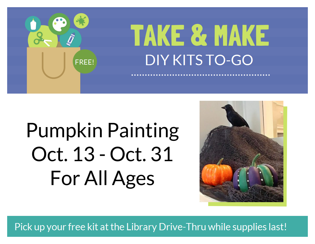 take and make pumpkin painting flyer