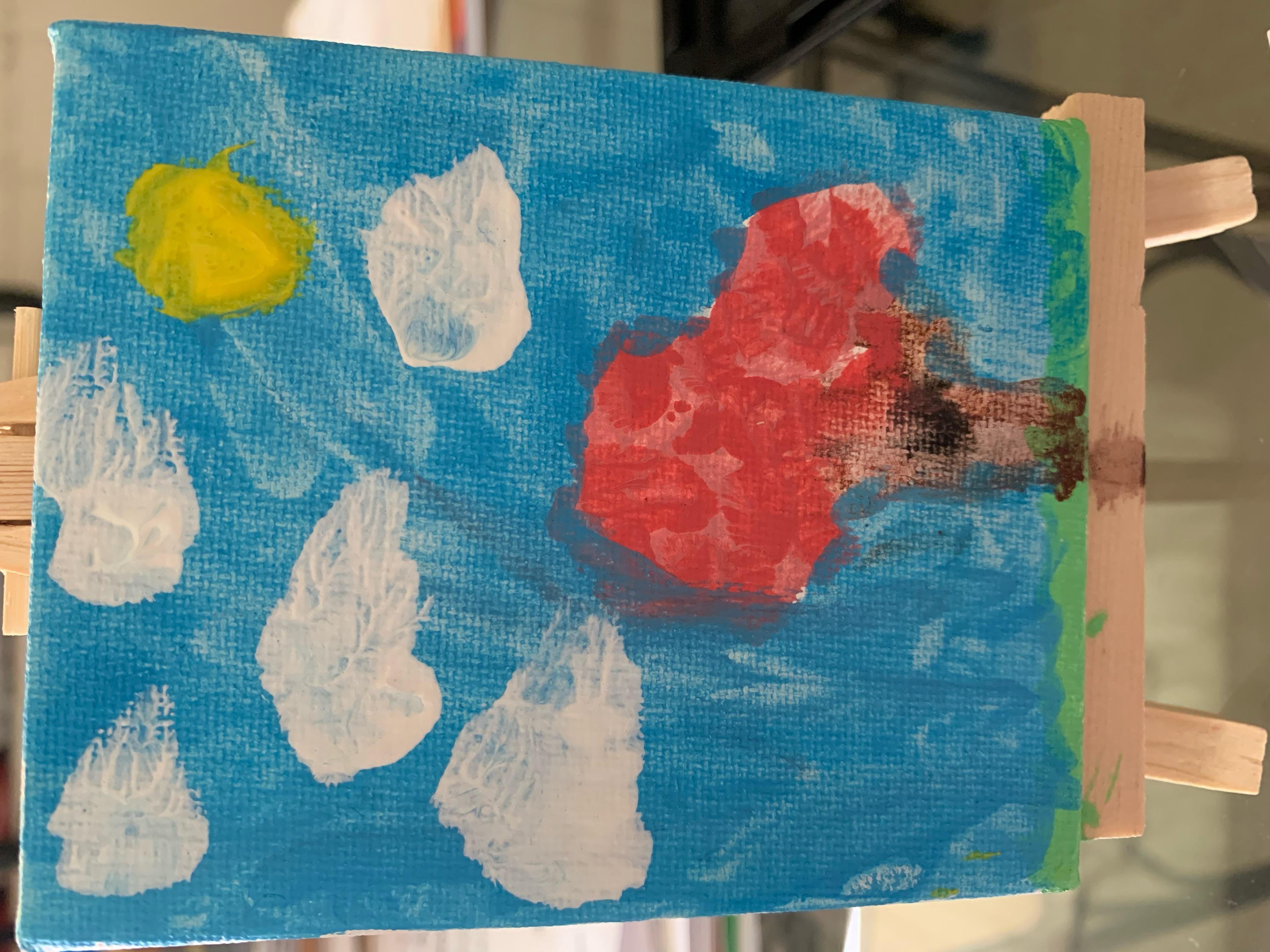 sophia: tree painting