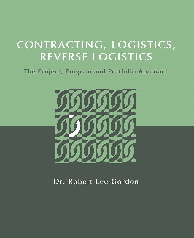 The cover for Contracting, Logistics, and Reverse Logistics is green and gray and includes a design of interlinked chain links.