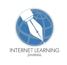 The logo for the Internet Learning journal features an inkpen superimposed over a globe.