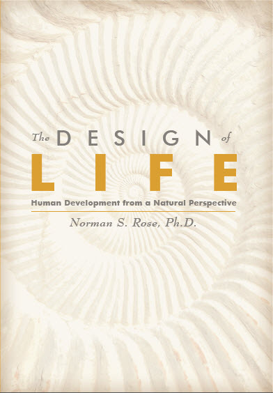 The cover of The Design of Life features a white nautilus shell.