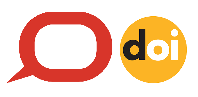 The conversation logo with the DOI logo