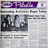 The front page of The Furman Paladin newspaper