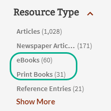 book and e book limit options