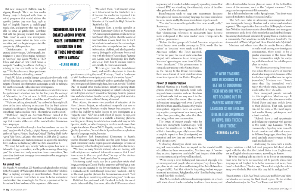 pages from the article Lost in misinformation showing text