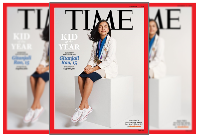 cover of Time magazine showing Kid of the Year