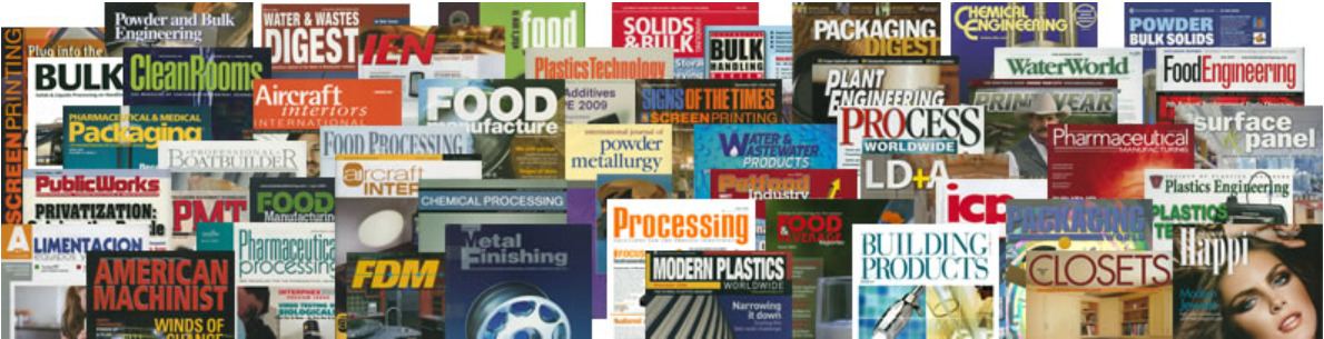 image of many print publications including magazines and scholarly journals