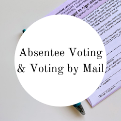 Go to absentee voting and voting by mail.