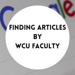 Go to finding articles by WCU faculty.