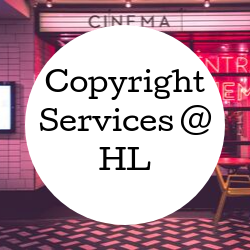 Go to copyright services at Hunter Library.