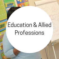 Go to education and allied professions.