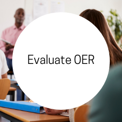 Go to Evaluate OER.